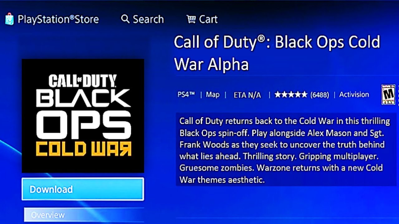 Cod Black Ops Cold War Alpha Appears On Ps Store Resetera