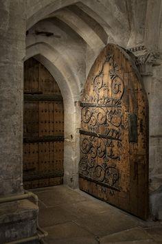 ancient cathedral door