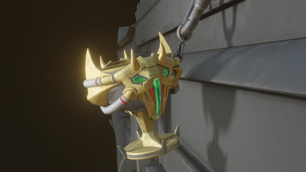 Caustic Grail charm
