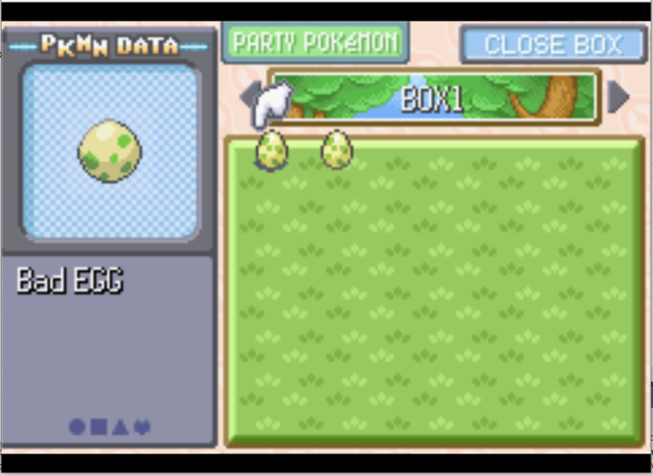Bad eggs in Emerald from bad Pokemon injection