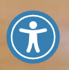 This is the accessibility icon that will open the toolbar