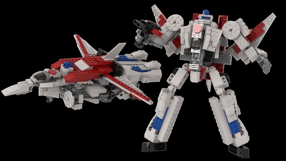 Customs de LeaderOptimus : le côté Lego - Page 4 RenduJetfire1