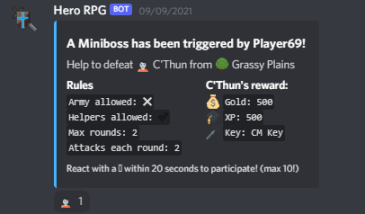 Miniboss Fight