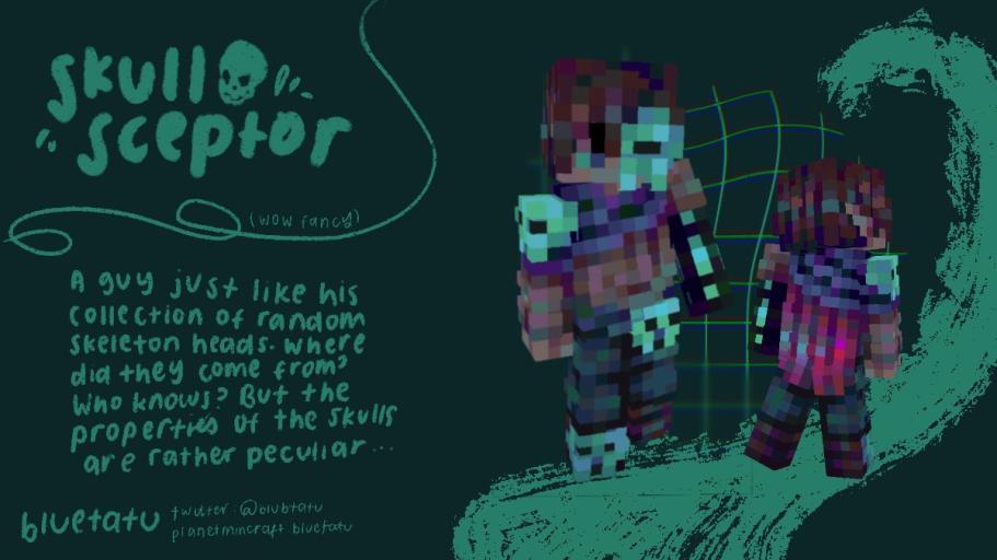 skull sceptor (skin jam vol. 1) Minecraft Skin