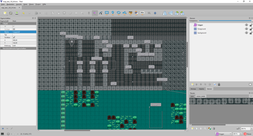 Our map in the tiled editor