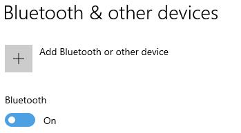 Bluetooth turning on