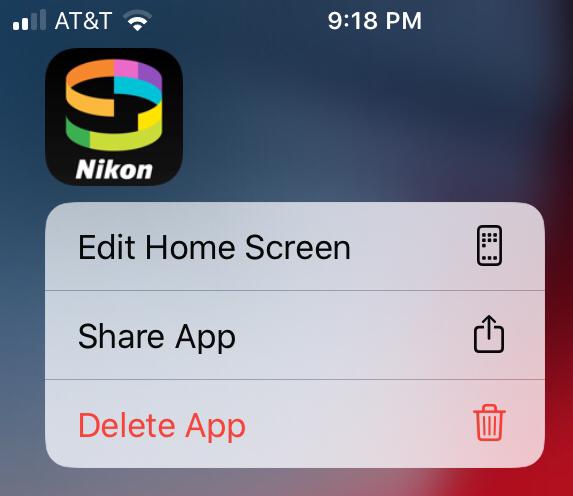 Nikon app being deleted