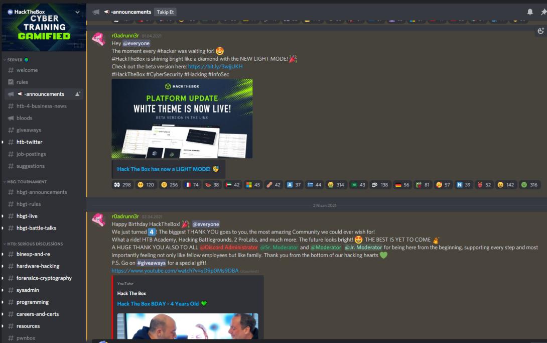 hackthebox.eu discord sunucusu