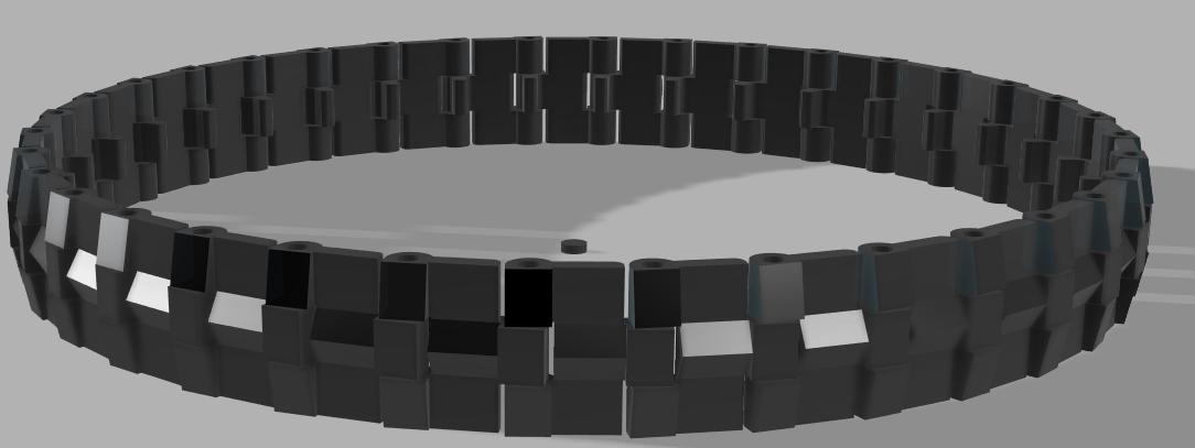 Chaîne avec maillons modélisation 3D
