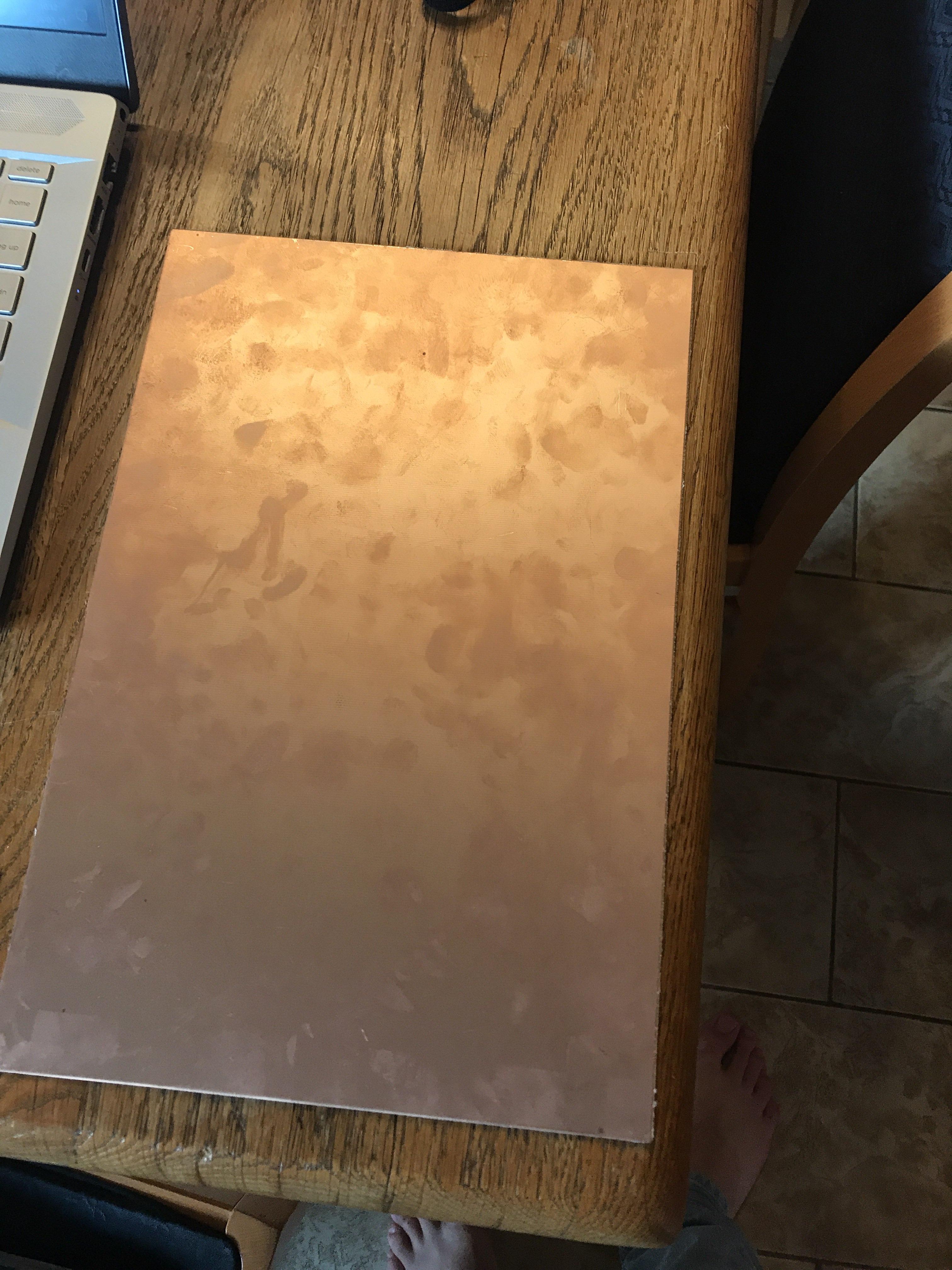 Plaque cuivrée pour CNC