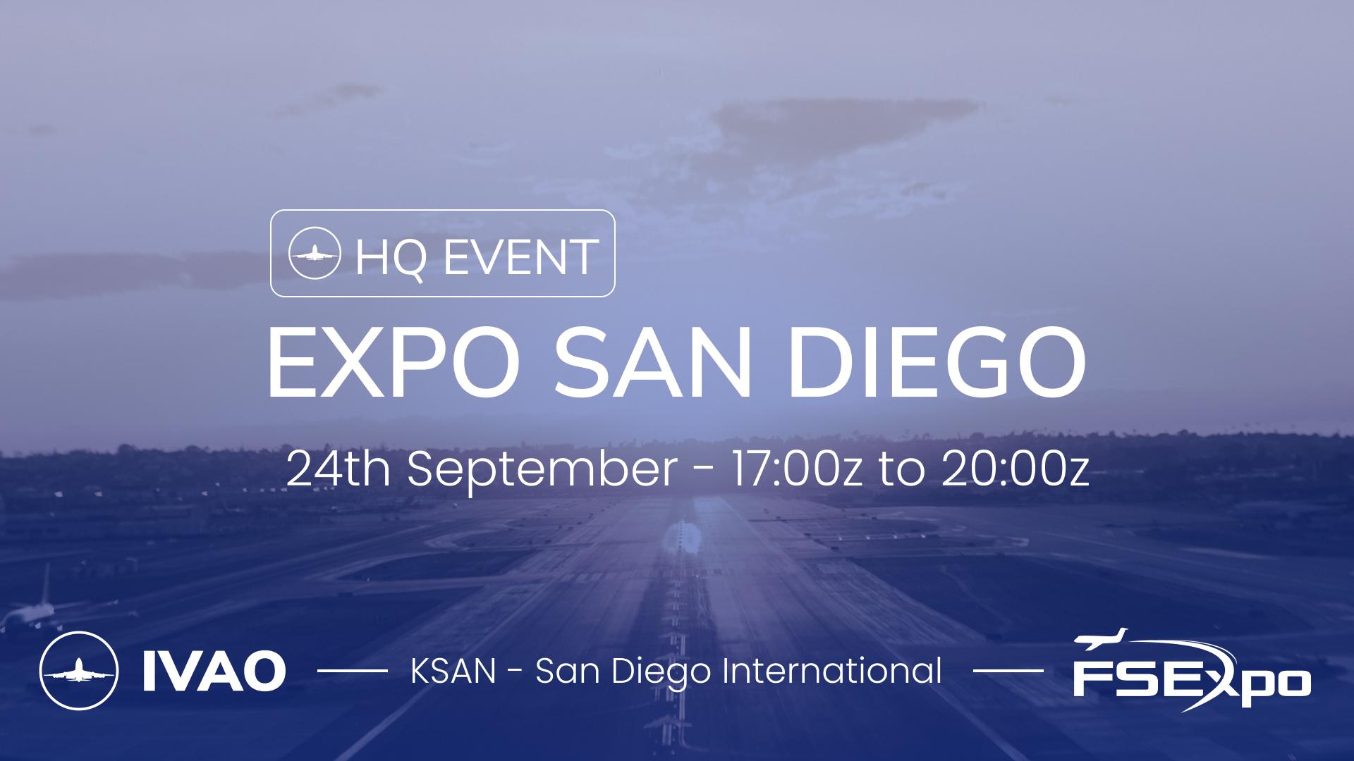 [24 SEP | 17z-20z] [HQ+XA] Expo San Diego