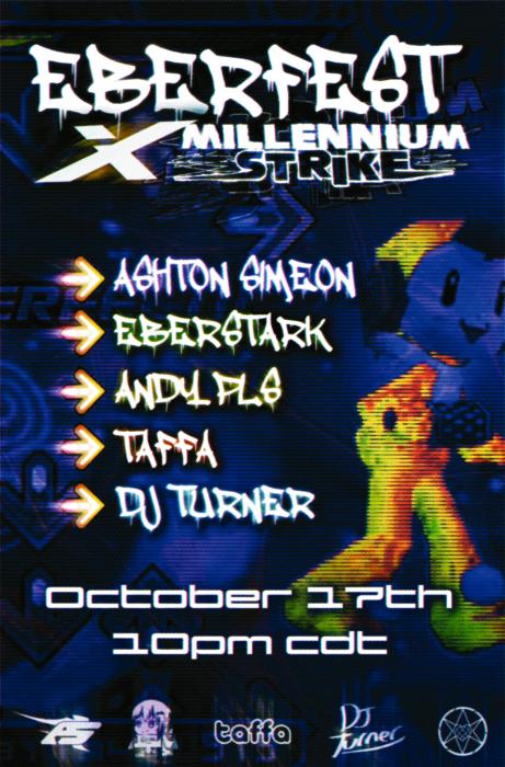 Flyer for EBERFEST X MILLENNIUM STRIKE