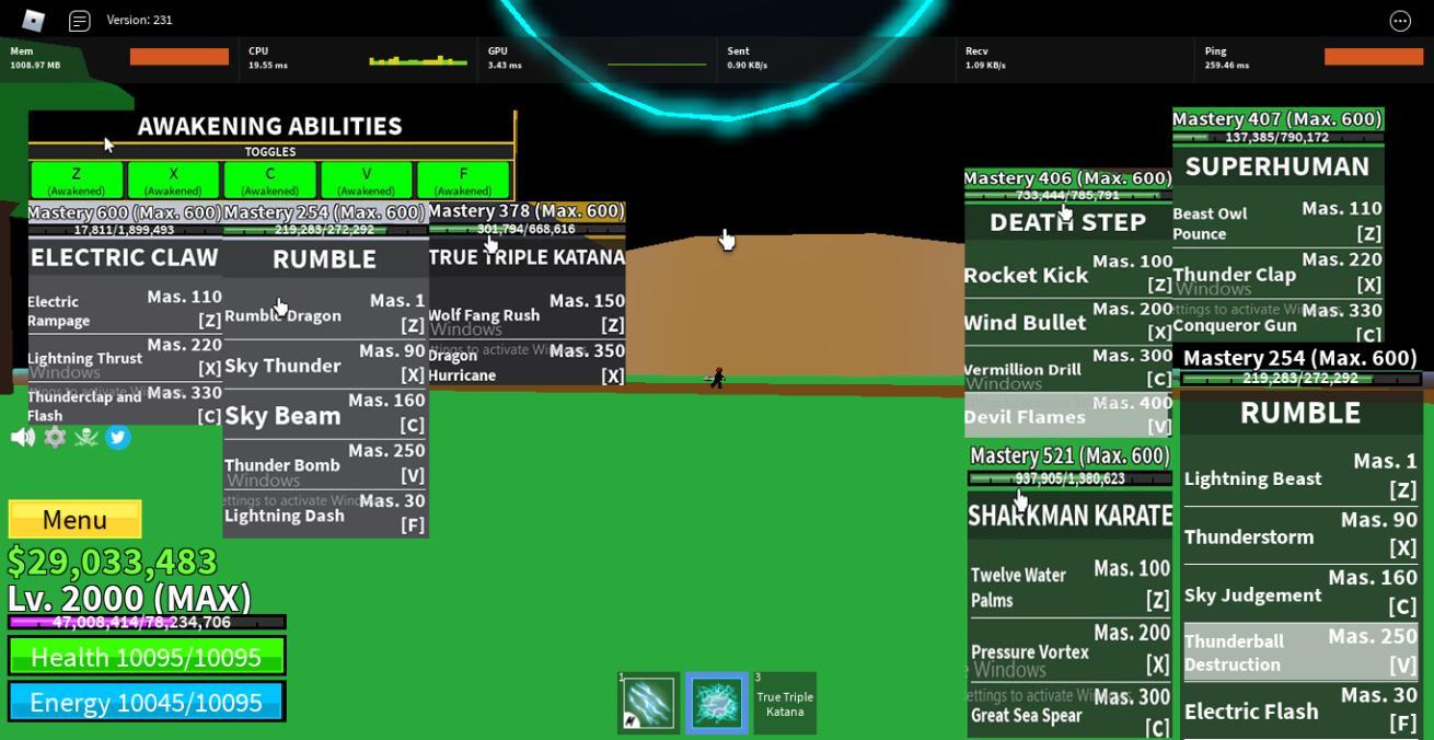 -Max level ăn Rumble Full Awaken Full Melle V2 Có TTK và 29m Beli
