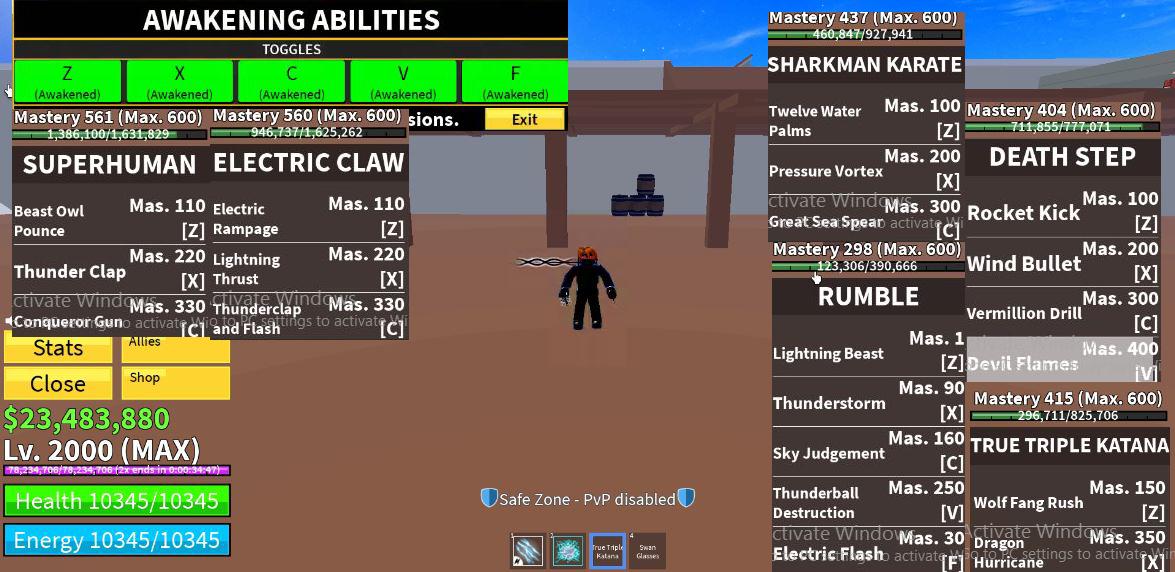 -Max level ăn Rumble Full Awaken Full Melle V2 Có TTK và 23m Beli