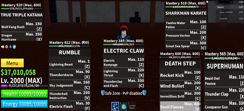 Max level ăn Rumble Full Awaken Full Melle V2 Có TTK và + 30m Beli full skill