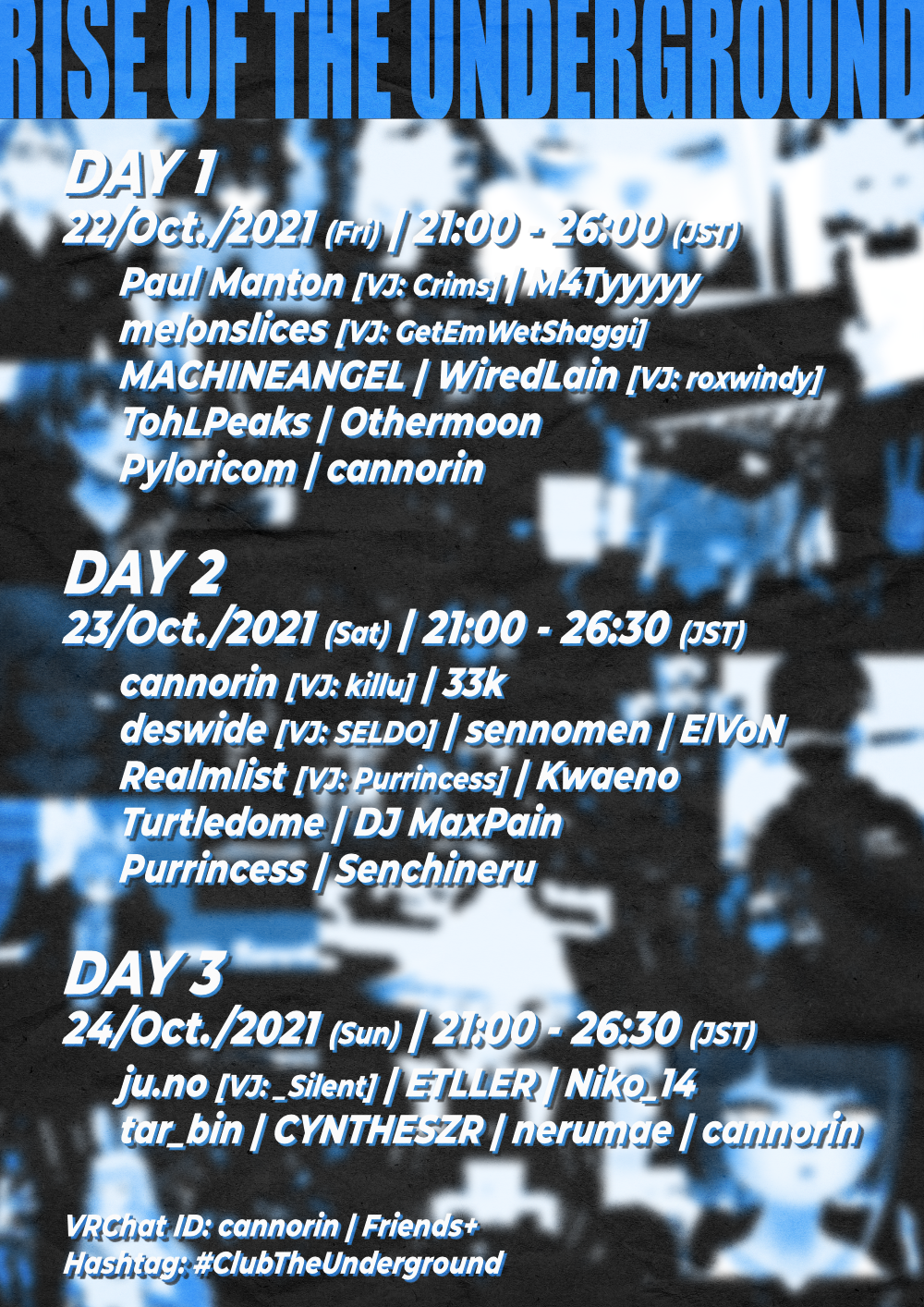 Flyer for CLUB: THE UNDERGROUND 2ND ANNIVERSARY EVENT (DAY 2)